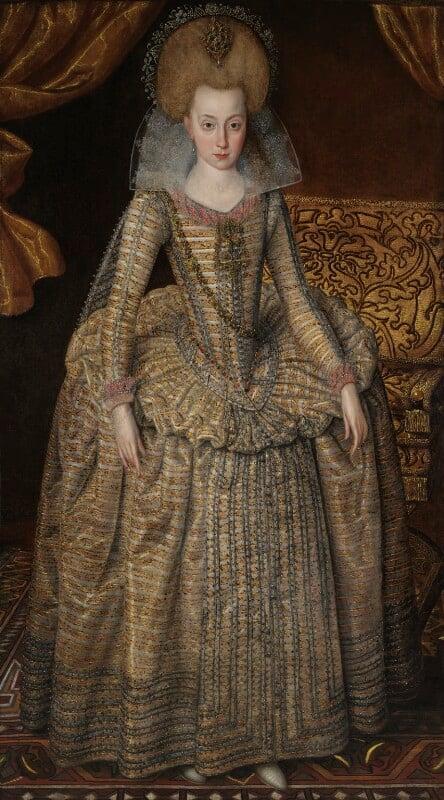 Princess Elizabeth, Queen of Bohemia and Electress Palatine, by Robert Peake the Elder, circa 1610 - NPG 6113 - © National Portrait Gallery, London