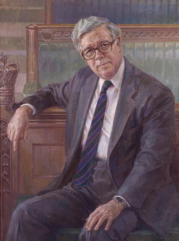 Geoffrey Howe, by June Mendoza, 1992 - NPG 6164 - © June Mendoza / National Portrait Gallery, London