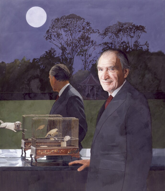 Sir Emmanuel Kaye, by Paul Brason, 1991 - NPG 6158 - © National Portrait Gallery, London