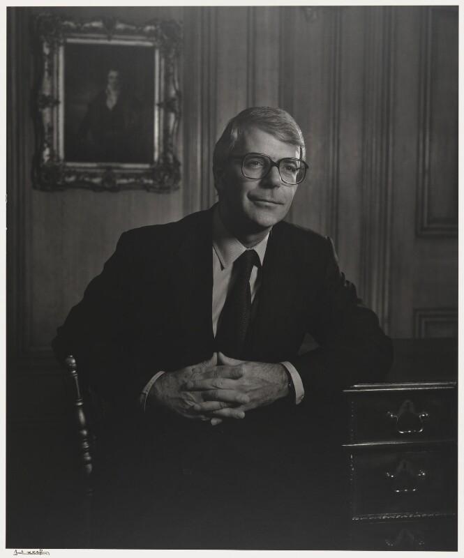 John Major, by Yousuf Karsh, 1991 - NPG P505a - © Karsh / Camera Press