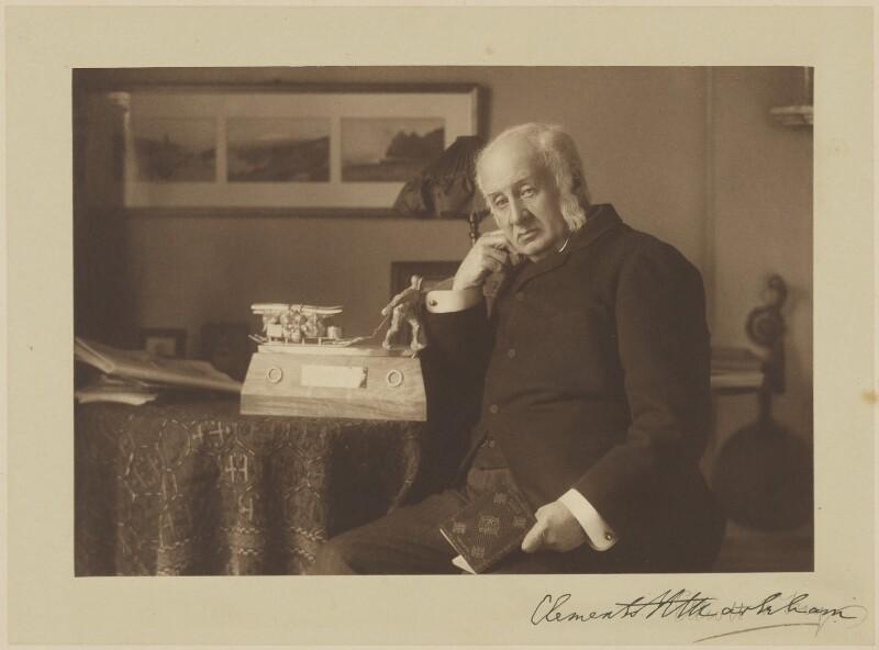 Sir Clements Robert Markham, by Elliott & Fry, 1904-1905 -NPG P491 - © National Portrait Gallery, London