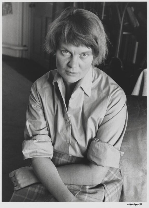 Iris Murdoch, by Gisèle Freund, 1959 - NPG P436 - © Estate Gisèle Freund / IMEC Images
