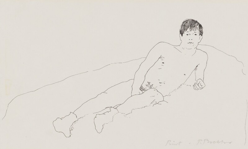 Joe Orton, by Patrick Procktor, 1967 - NPG 6154 - © National Portrait Gallery, London