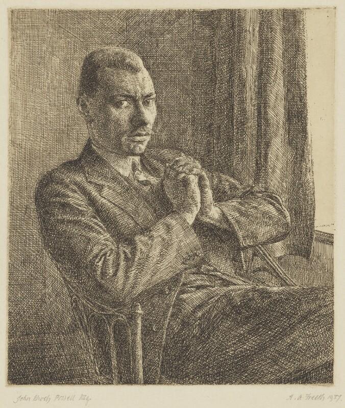 Enoch Powell, by Hubert Andrew Freeth, 1937 - NPG 6130 - © Martin, Tony and Richard Freeth