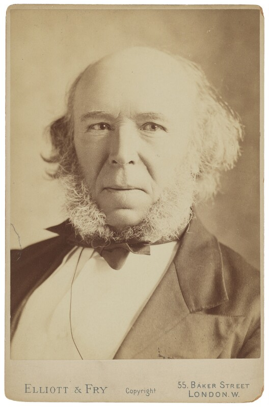 Herbert Spencer, by Elliott & Fry, 1890 - NPG P513 - © National Portrait Gallery, London
