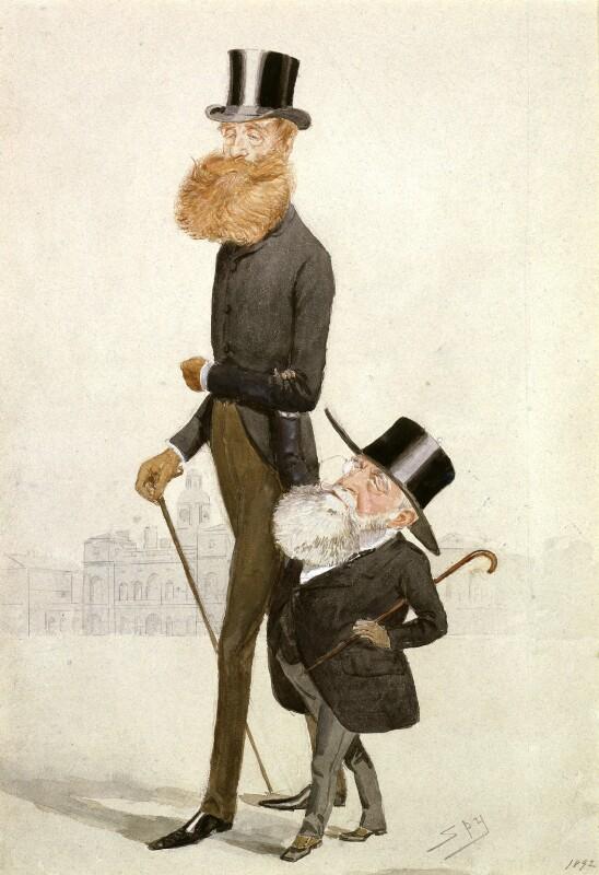 John Poyntz Spencer, 5th Earl Spencer; George Frederick Samuel Robinson, 1st Marquess of Ripon and 3rd Earl de Grey, by Sir Leslie Ward, 1892 - NPG 6183 - © National Portrait Gallery, London