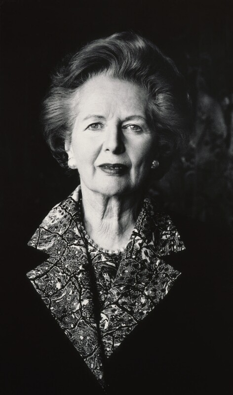 Margaret Thatcher, by Helmut Newton, 1991 - NPG P507 - © HELMUT NEWTON / Maconochie Photography
