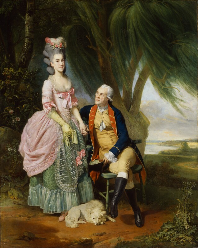 Mary Wilkes; John Wilkes, by Johan Joseph Zoffany, exhibited 1782 - NPG 6133 - © National Portrait Gallery, London