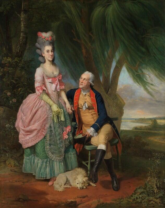Mary Wilkes; John Wilkes, by Johan Joseph Zoffany, exhibited 1782 - NPG 6133 - © National Portrait Gallery, London