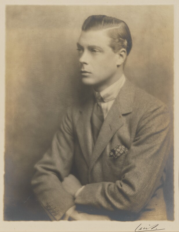 Prince Edward, Duke of Windsor (King Edward VIII), by Hugh Cecil (Hugh Cecil Saunders), 1925 - NPG P503 - © reserved; collection National Portrait Gallery, London