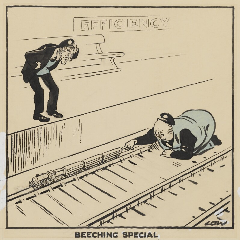 'Beeching Special', by Sir David Low, circa 1962 - NPG 5348 - © Solo Syndication Ltd