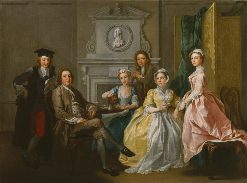 Jonathan Tyers and his family, by Francis Hayman, 1740 - NPG 5588 - © National Portrait Gallery, London