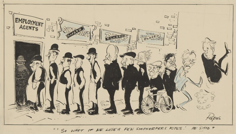 'So what if we lose a few shopkeepers votes' he said, by William Papas ('Papas'), 1964 - NPG 5360 - © National Portrait Gallery, London
