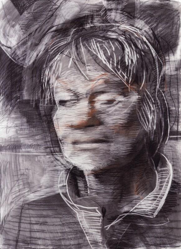 Iris Murdoch, by Tom Phillips, 1986 - NPG 5944(3) - © DACS / Tom Phillips