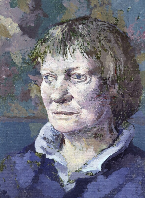 Iris Murdoch, by Tom Phillips, 1985 - NPG 5944(7) - © DACS / Tom Phillips 2018