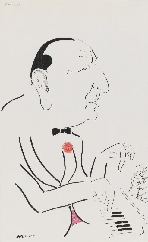 Noël Coward, by Mark Boxer, 1983 - NPG 5920(7) - © estate of Mark Boxer