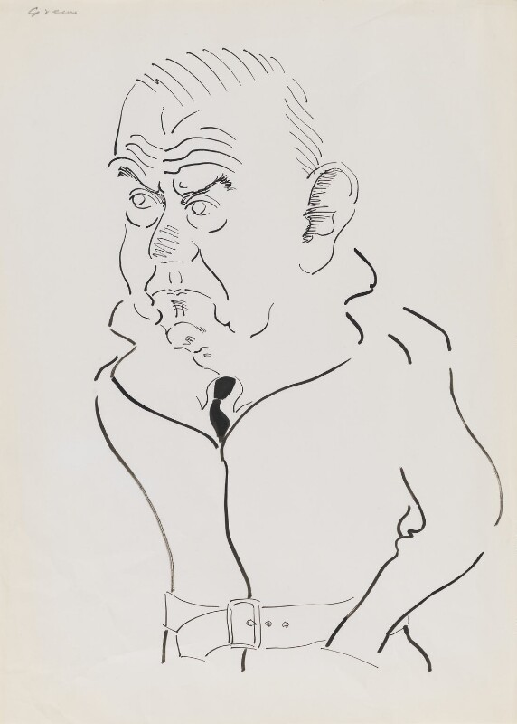 Graham Greene, by Mark Boxer, 1977-1978 - NPG 5920(11) - © estate of Mark Boxer