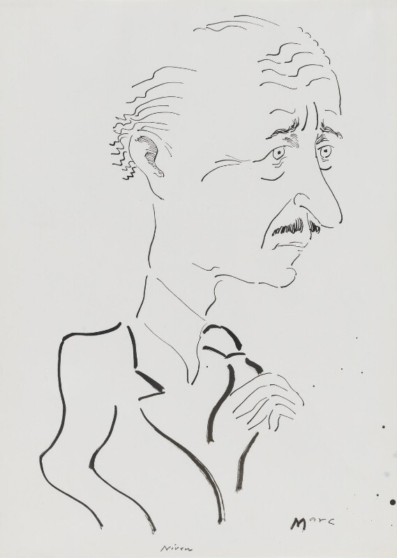 David Niven, by Mark Boxer, 1970s - NPG 5920(19) - © estate of Mark Boxer