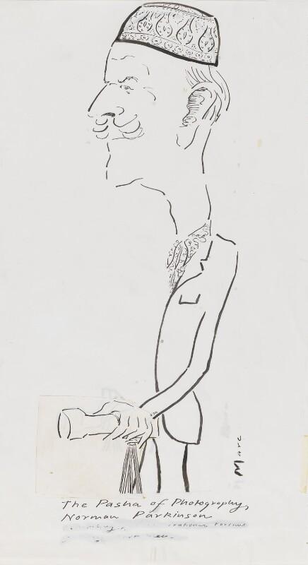 Norman Parkinson, by Mark Boxer, 1981 - NPG 5920(20) - © estate of Mark Boxer
