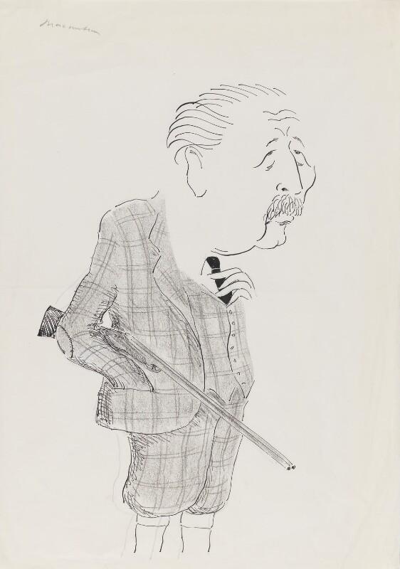 Harold Macmillan, 1st Earl of Stockton, by Mark Boxer, early 1970s - NPG 5920(23) - © estate of Mark Boxer