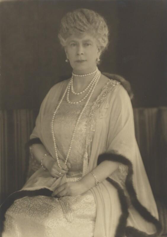 Queen Mary, by Bertram Park, 1927 - NPG P140(1) - © estate of Bertram Park / Camera Press
