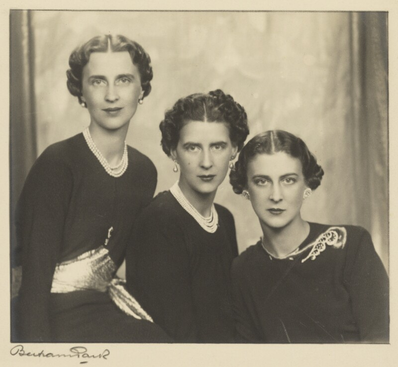 The three daughters of Prince and Princess Nicholas of Greece and Denmark, by Bertram Park, 1938 - NPG P140(4) - © estate of Bertram Park / Camera Press