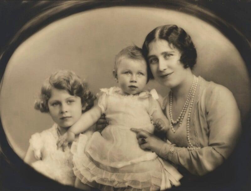 Queen Elizabeth II; Princess Margaret; Queen Elizabeth, the Queen Mother, by Marcus Adams, 22 June 1931 - NPG P140(11) - © estate of Marcus Adams / Camera Press