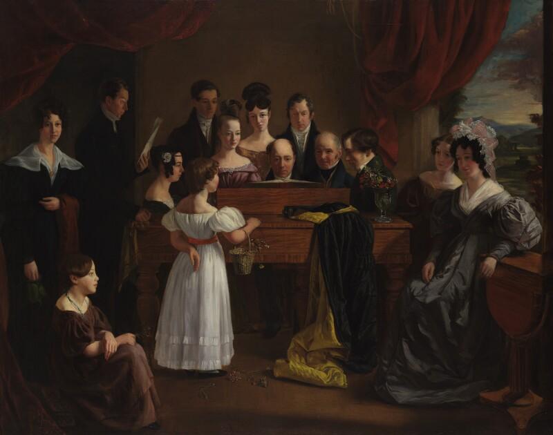 The Novello Family, by Edward Petre Novello, circa 1830 - NPG 5686 - © National Portrait Gallery, London