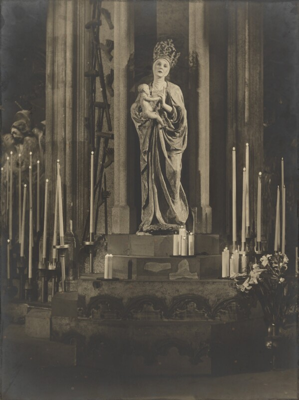Lady Diana Cooper (Diana (née Manners), Viscountess Norwich) as the Madonna in 'The Miracle', by Bertram Park, 8 April 1931 - NPG P140(37) - © estate of Bertram Park / Camera Press
