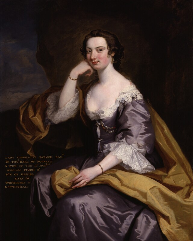 Lady Charlotte Finch (née Fermor), by John Robinson, circa 1740-1745 -NPG 6205 - © National Portrait Gallery, London