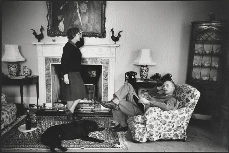 Elizabeth Hester Douglas-Home, Baroness Home of the Hirsel; Alexander Frederick Douglas-Home, Baron Home of the Hirsel, by Eve Arnold, 1964 - NPG P522 - © Eve Arnold / Magnum Photos