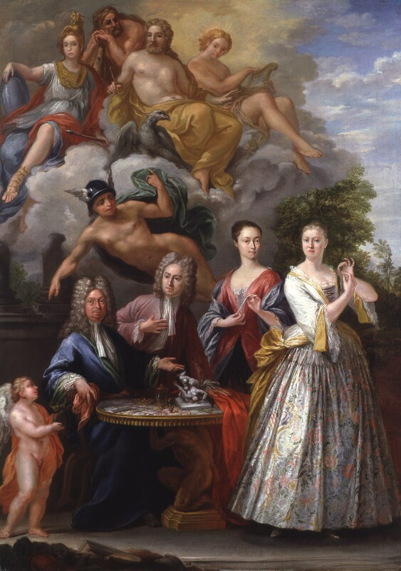 The Talman Family Group, by Giuseppe Grisoni, 1718-1719 - NPG 5781 - © National Portrait Gallery, London