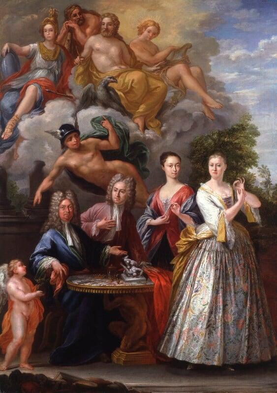 The Talman Family Group, by Giuseppe Grisoni, 1718-1719 - NPG 5781 - © National Portrait Gallery, London