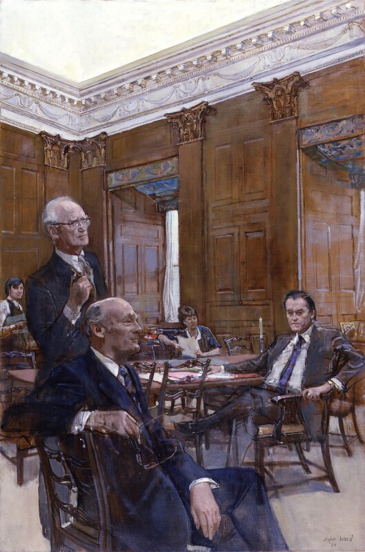 Secretaries of the Cabinet, by John Stanton Ward, 1984 - NPG 5794 - © National Portrait Gallery, London
