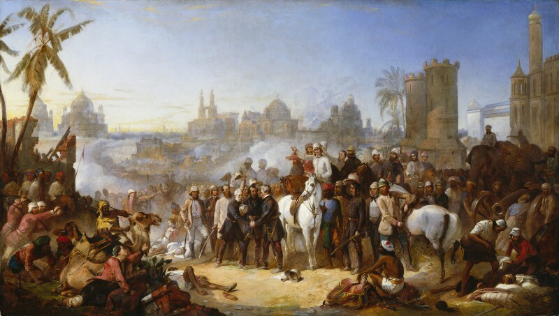 The Relief of Lucknow, 1857, by Thomas Jones Barker, 1859 - NPG 5851 - © National Portrait Gallery, London