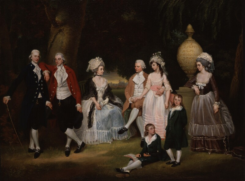 The Fourdrinier Family, attributed to John Downman, circa 1786 - NPG 6091 - © National Portrait Gallery, London