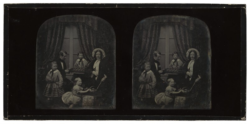 Sir Charles Wheatstone and his family, by Antoine Claudet, circa 1851-1852 - NPG P154 - © National Portrait Gallery, London