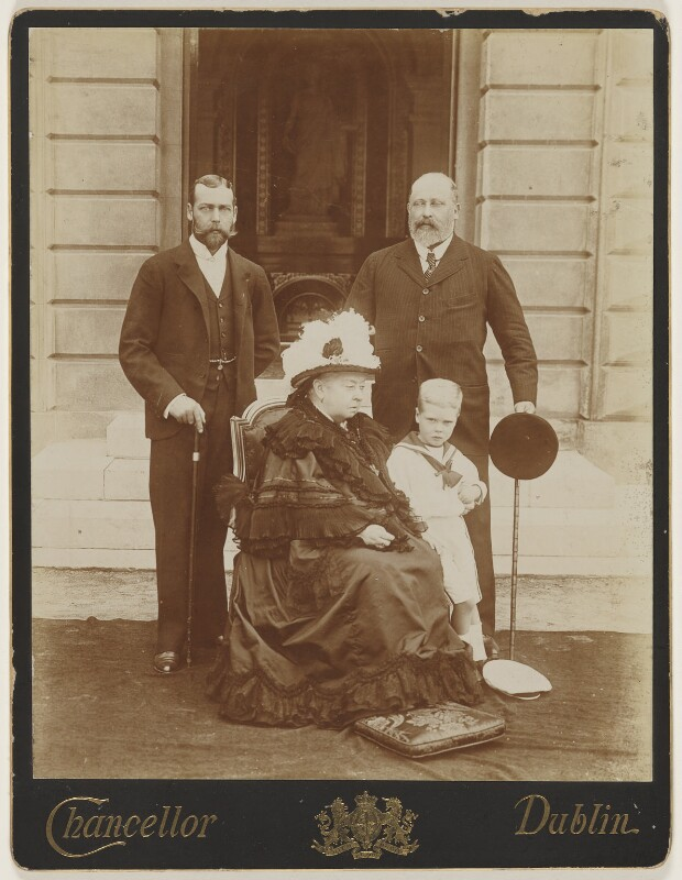 'Four Generations' (King George V; Queen Victoria; King Edward VII; Prince Edward, Duke of Windsor (King Edward VIII)), by John Chancellor, 1899 - NPG P232 - © National Portrait Gallery, London