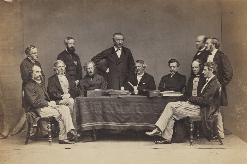 The Supreme Indian Council, Simla, 1864, by Bourne & Shepherd, circa 1864 - NPG P426 - © National Portrait Gallery, London