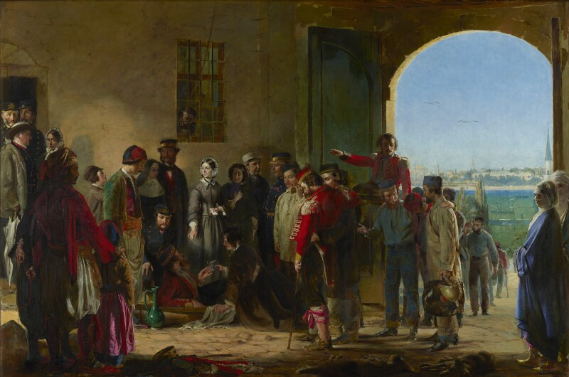 The Mission of Mercy: Florence Nightingale receiving the Wounded at Scutari, by Jerry Barrett, 1857 -NPG 6202 - © National Portrait Gallery, London