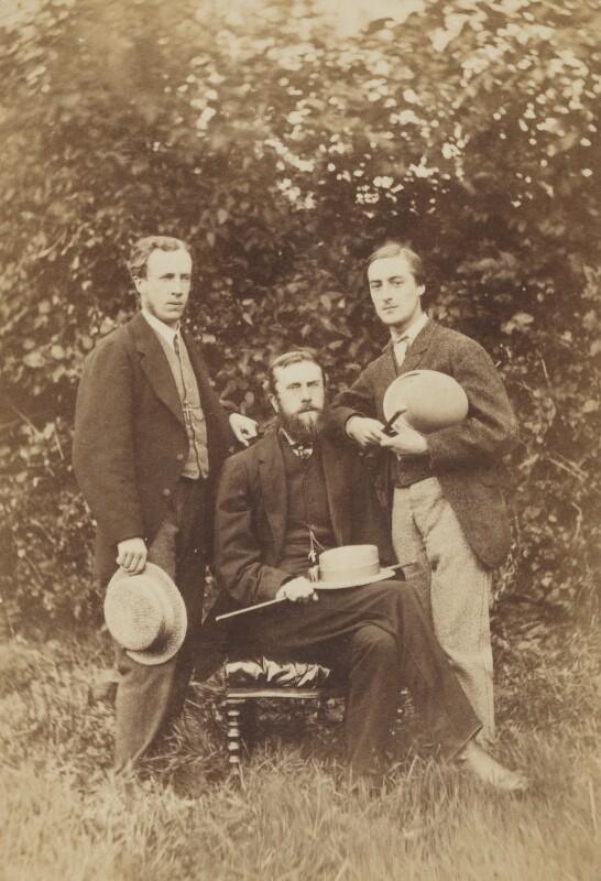 Alfred William Garrett; William Alexander Comyn Macfarlane; Gerard Manley Hopkins, by Thomas C. Bayfield, 1866 - NPG P453 - © National Portrait Gallery, London