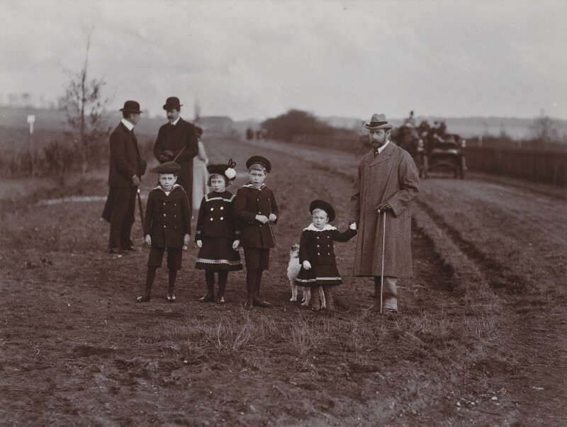 Royal Group including King George V and four of his children, by Lafayette (Lafayette Ltd), 9 November 1902 - NPG P500 - © National Portrait Gallery, London