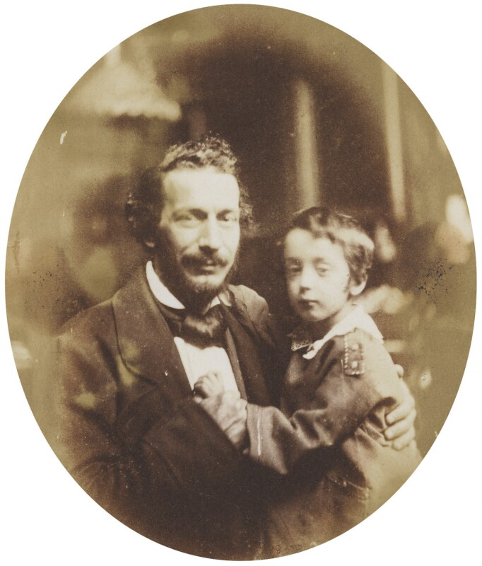 Spiridione Gambardella with his son Dion Smith Gambardella, attributed to Sir Anthony Coningham Sterling, circa 1852 - NPG P171(14) - © National Portrait Gallery, London