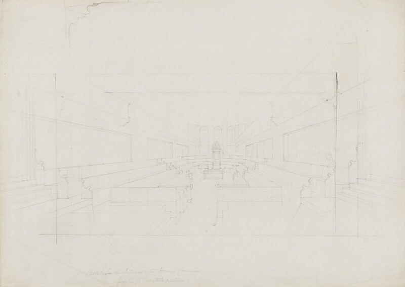 Sketch of the Interior of the House of Commons, by Sir George Hayter, circa 1833 - NPG 3073 - © National Portrait Gallery, London