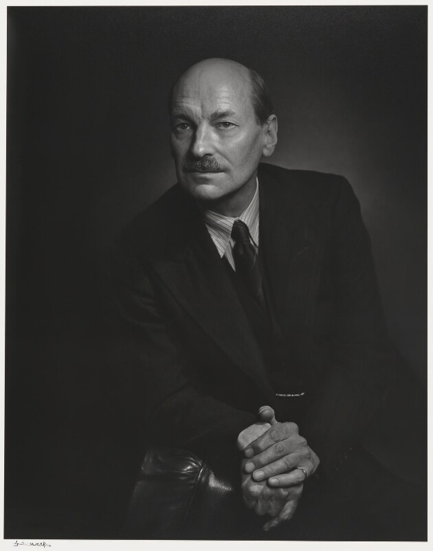 Clement Attlee, by Yousuf Karsh, 1944 - NPG P490(6) - © Karsh / Camera Press