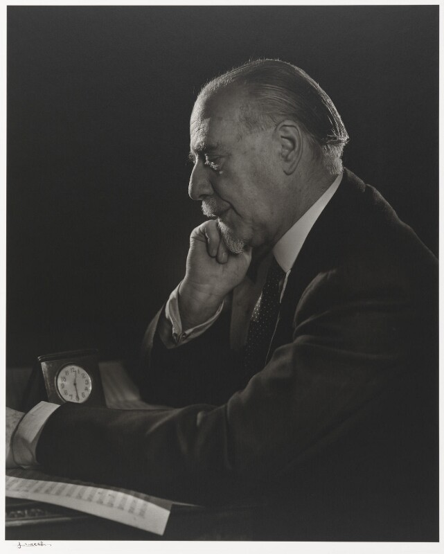 Sir Thomas Beecham, 2nd Bt, by Yousuf Karsh, 1946 - NPG P490(11) - © Karsh / Camera Press