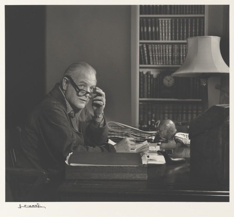 Randolph Frederick Edward Spencer Churchill, by Yousuf Karsh, 1958 - NPG P490(15) - © Karsh / Camera Press