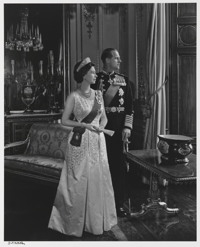 Queen Elizabeth II; Prince Philip, Duke of Edinburgh, by Yousuf Karsh, 1966 - NPG P490(27) - © Karsh / Camera Press