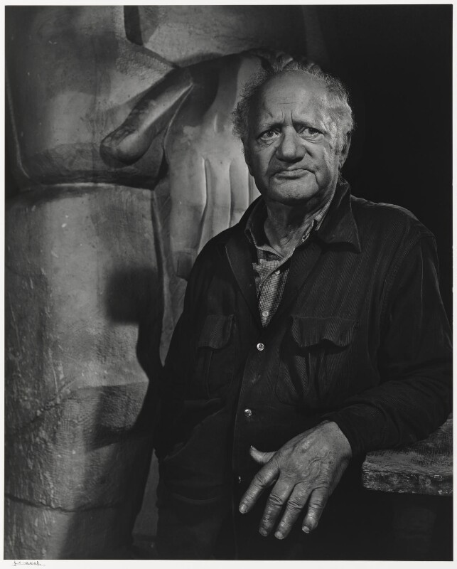Jacob Epstein, by Yousuf Karsh, 1955 - NPG P490(28) - © Karsh / Camera Press