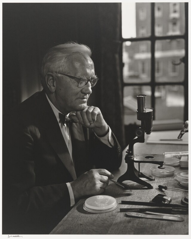 Alexander Fleming, by Yousuf Karsh, 1954 - NPG P490(31) - © Karsh / Camera Press